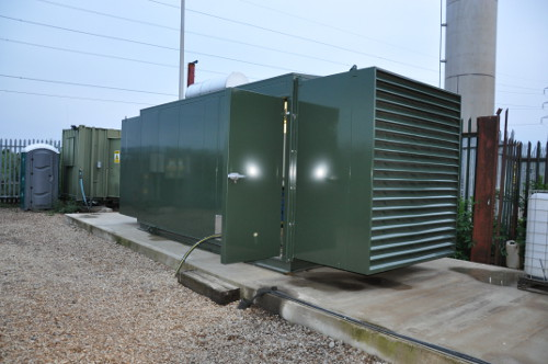 180kW Scania based gen set package for use with landfill gas